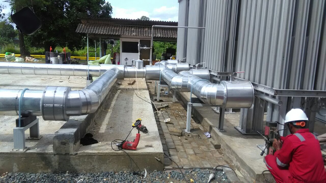 High Density Polyurethane for LNG Station Pertamina Tanjung Tabalong